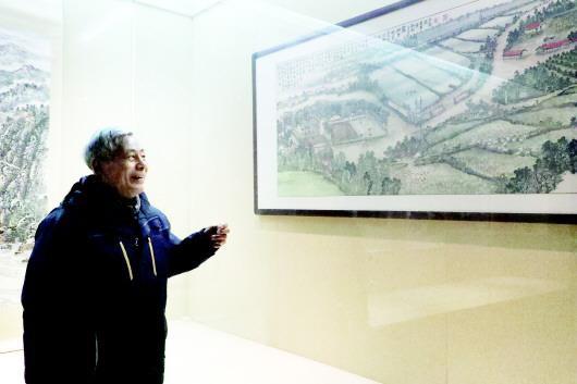 绿水青山皖西张义东山水画展正在皖西博物馆展出
