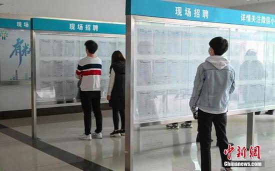 资料图:4月14日,浙江杭州举办2020杭州市春季系列综合性现场招聘会。中新社记者 王刚 摄