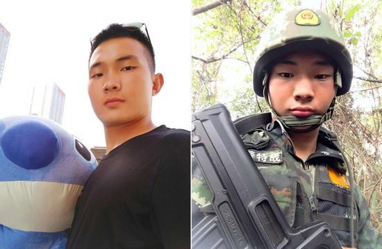张甫,2013年9月入伍,战士