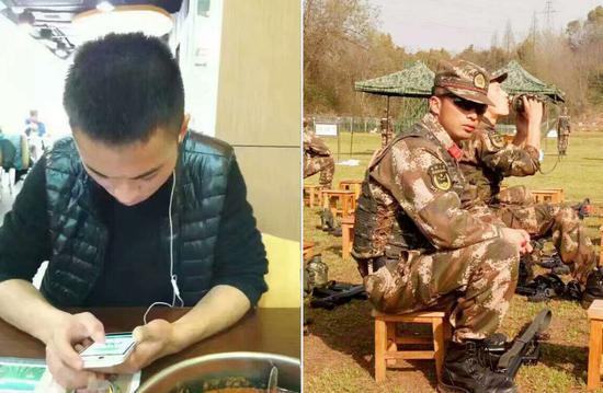 王俊,2013年9月入伍,战士