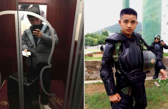 汪高辉,2013年9月入伍,战士