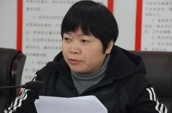 媒体采访濉溪开发区科技局局长殷玉琴