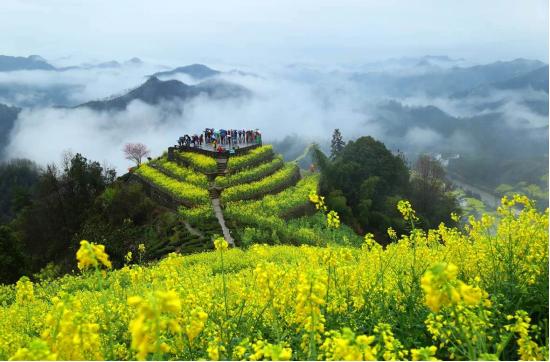 歙县石潭下汰观景台(图源:黄山市文化和旅游局)