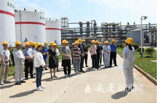 6月4日,企业代表和热心群众参观泰发能源科技有限公司。通讯员 陈嵩 摄