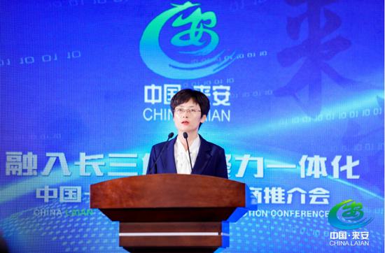 来安县委书记杨文萍在招商推介会上致辞