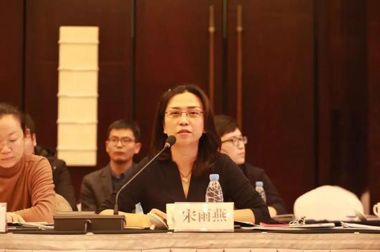 天津泰达低碳经济促进中心主任宋雨燕介绍国际合作园区建设