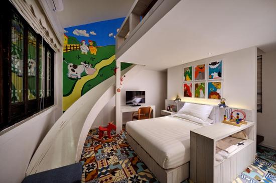 屯溪区黄山山水间微酒店各种风格的房间