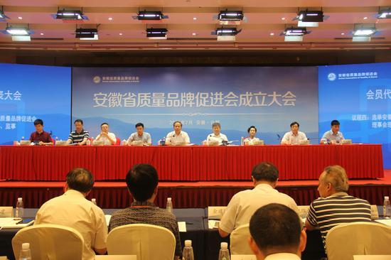 安徽省质量品牌促进会成立大会活动现场