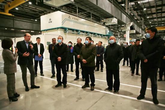 市委书记张祥安、市长许继伟率队检查博西华洗衣机干衣机项目