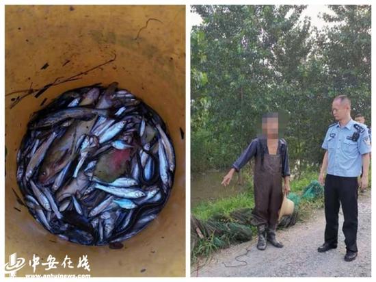 芜湖:民警江边查处非法捕捞行为