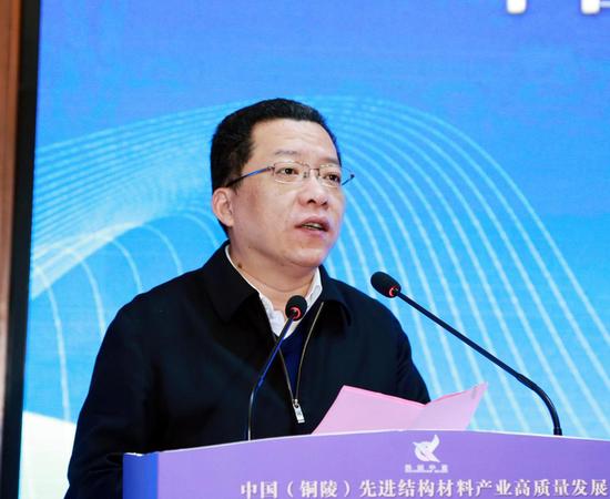 中共铜陵市委书记、市人大常委会主任 丁纯致辞
