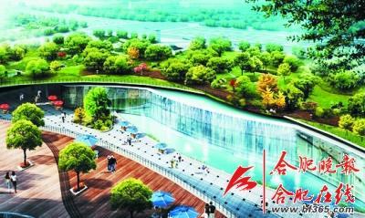 ○南广场地面景观公园及下沉商业广场效果图