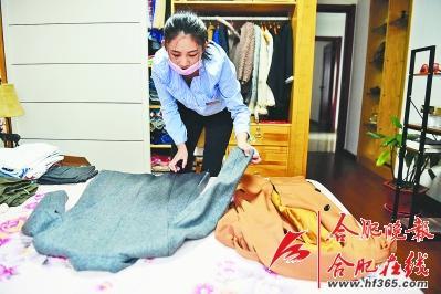 整理衣服也能赚钱 合肥一女子创业做衣柜整理师