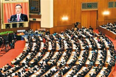 三月五日,十二届全国人大五次会议在北京人民大会堂开幕。
