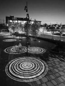 运动休闲广场水纹投影