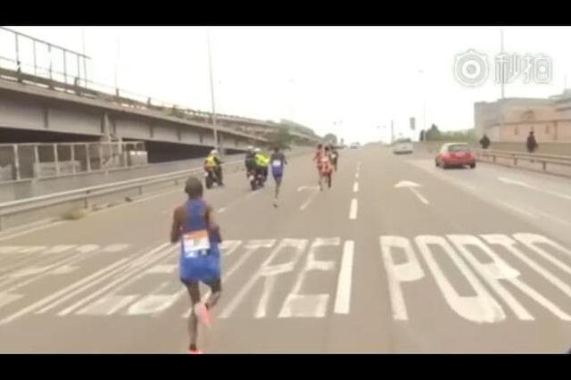 """尴尬了 马拉松引导车带错路选手""""跑错路"""""""