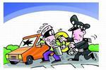 深夜撬车窗盗窃  作案全程被记录