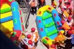 安徽某景区人满为患发生漂流翻船事故