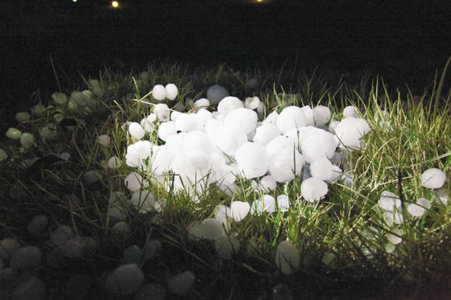 亳州利辛部分乡镇昨日发生冰雹灾害