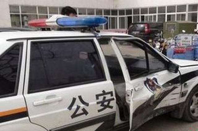 当街逆行撞坏警车还逃逸 司机最终被刑拘