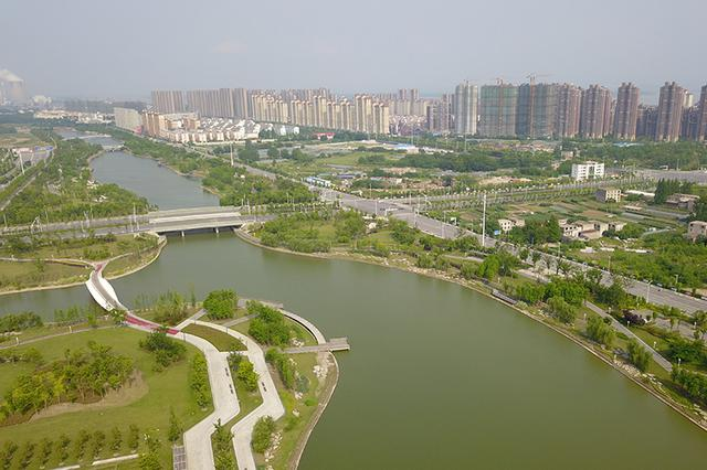 """安庆""""一湖九河""""治理 黑水沟蜕变景观带"""