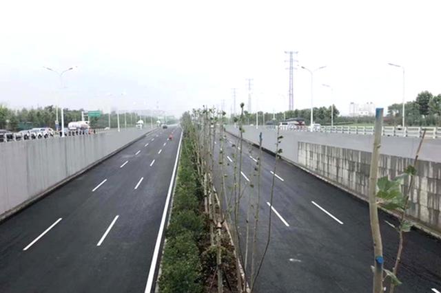 合肥方兴大道下穿长江西路地面道路明日放行通车