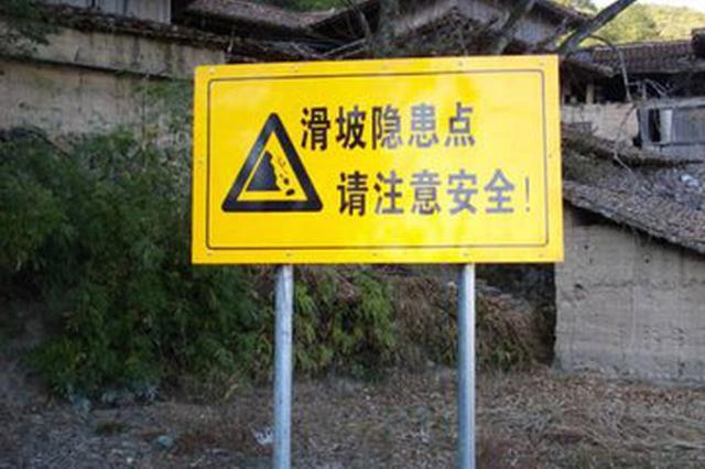 安徽省国土资源厅发布地质灾害黄色预警