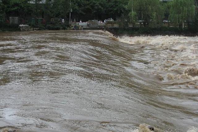 安徽凤阳一猪场被洪水冲散  有村民下水捞