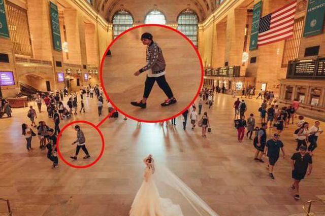 网友纽约拍婚纱照 周杰伦一家三口意外入镜