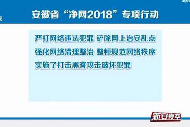 """安徽省""""净网2018""""专项行动取得显著成果"""