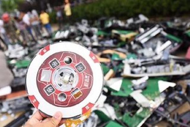 安徽省警方本周统一销毁各类枪支2646支