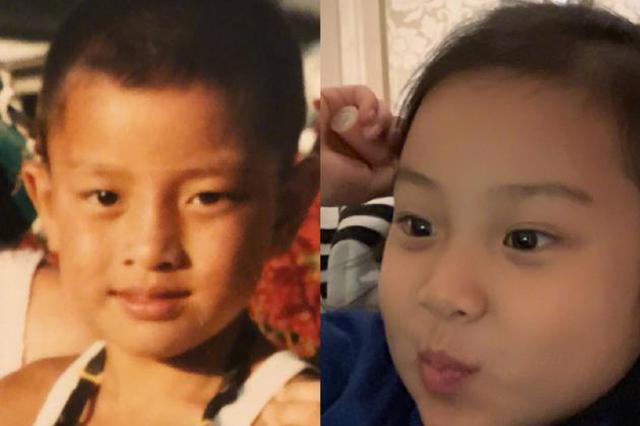 賈乃亮為甜馨慶六歲生日 曬童年對比照似復制粘貼