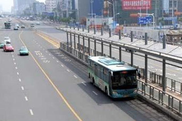 合肥长江东大街启动公交专用道标线整治