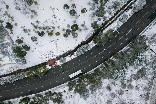 航拍2019新春合肥首场降雪