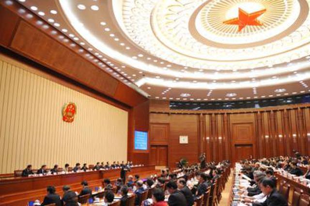 十三届全国人大二次会议 安徽代表团举行全体会议