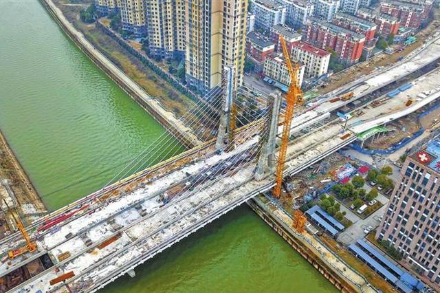 芜湖新中江桥改建主体即将完工