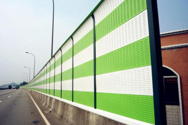 合肥市区高架立交加装45处声屏障