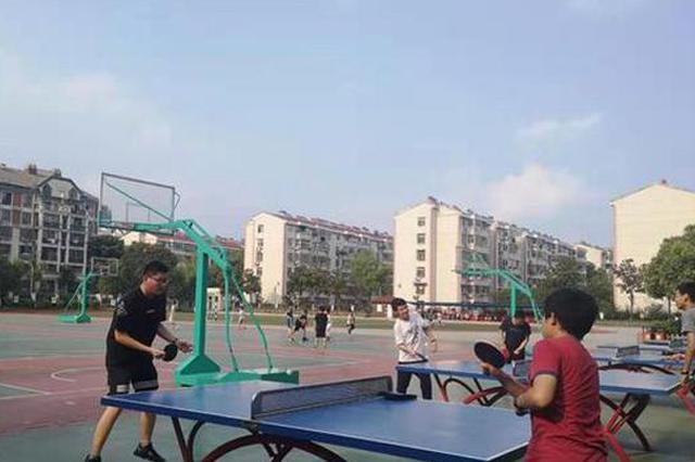 校园成为暑期市民健身好去处