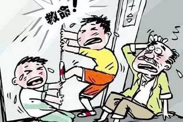 """淮南3名儿童被困电梯 民警化身""""小猪佩奇"""""""