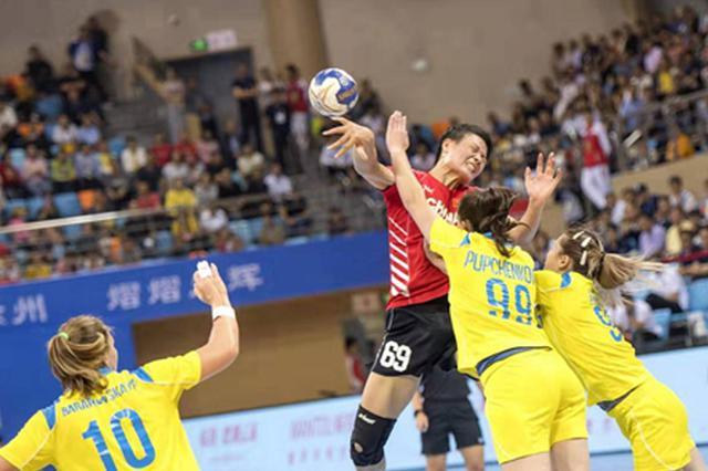 亚洲区奥运资格赛 中国女子手球队力克哈萨克斯坦队