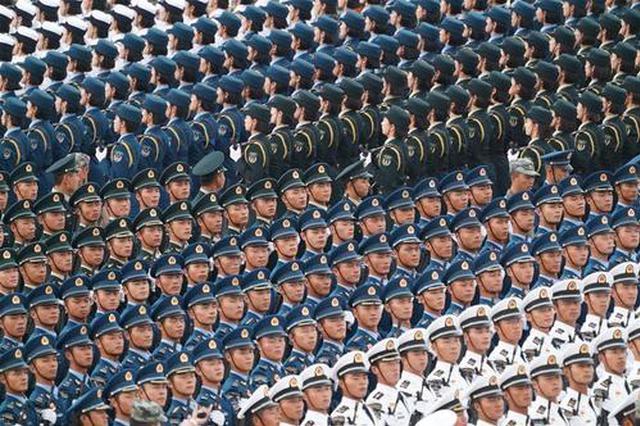 骄傲 安徽小伙亮相国庆阅兵战旗方队第一排面