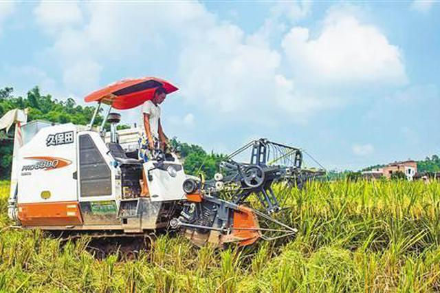 我国主要农作物耕种收综合机械化率超67%