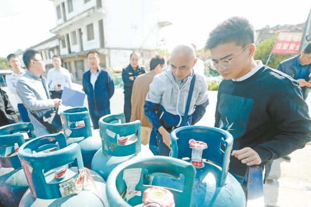 瓶装液化石油气门点存隐患 七部门联合执法查处