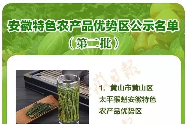 22个 安徽省第二批特色农产品优势区划定