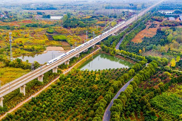 安徽肥东:魅力山镇秋色斑斓层林尽染