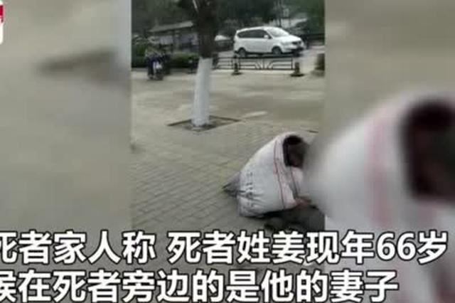 66岁环卫工工作中倒地身亡 妻子一旁坐地守候