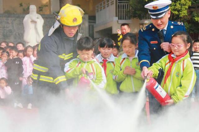 淮北市举办消防安全知识进校园活动
