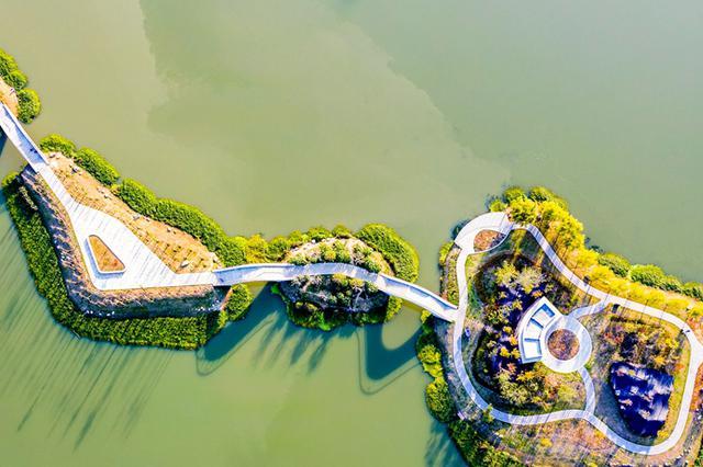安徽肥东:大力建设城市公园 快速提升绿化面积