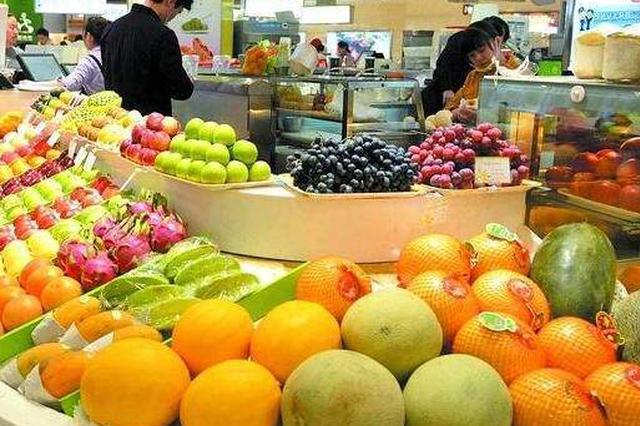 10月份安徽市场水果价格环比下跌12.5%