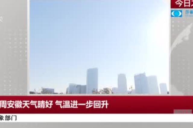 气象部门:本周安徽天气晴好  气温进一步回升